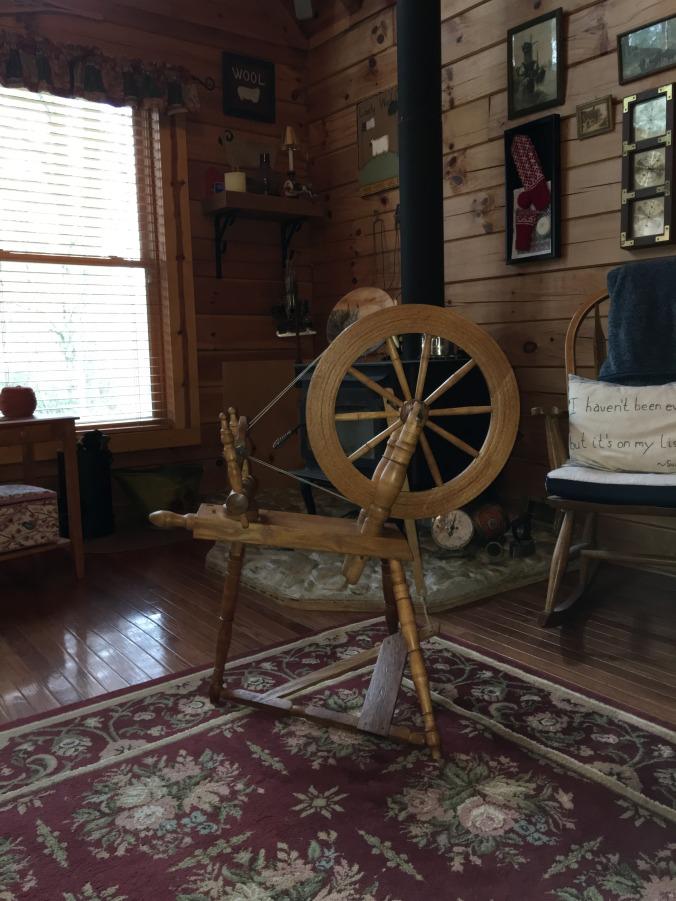 Flax Wheel after Waxing